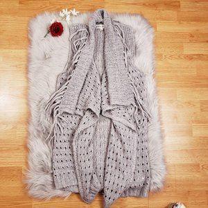 Knox Rose Boutique Gray Alpaca Knit Sweater Vest